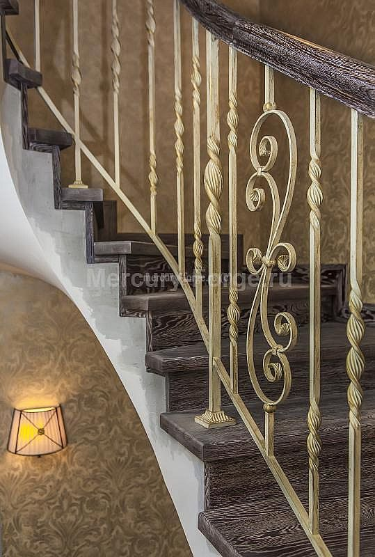 Кованое ограждение, серия Традиция - «Mercury Forge» #stairs #decor #home #grandeforge #tradition #mercuryforge #лестницы #ограждения #традиция #москва #дом #интерьер
