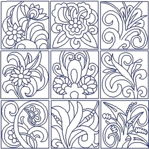 Advanced Embroidery Designs - Flowers Quilt Block Set