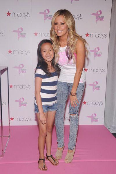 Ashley Tisdale kicks of Pumas Project Pink with pink hair streaks!: Hair Ideas, Branding Hoodie, Blondes Hair, Pumas Projects, Pink Gears, Projects Pink, Thanksashley Tisdale, Pink Hair Streaks, Tisdale Kicks