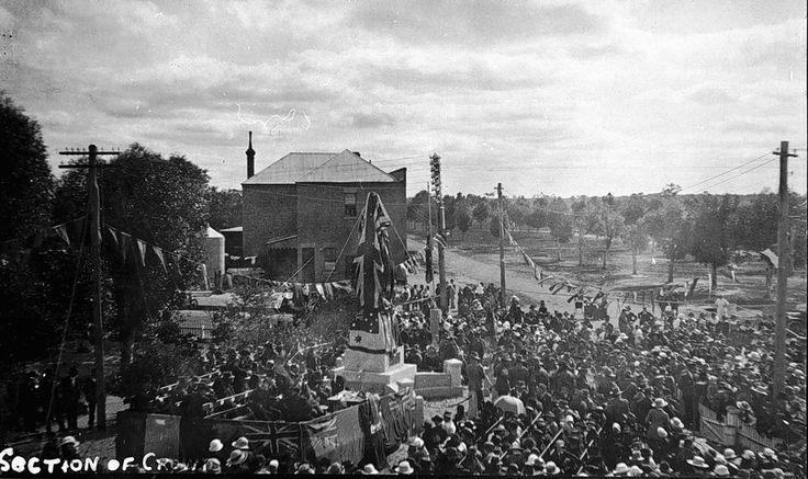 Unveiling the Soldier's Memorial, Nhill, Victoria, 1921 - Museum Victoria