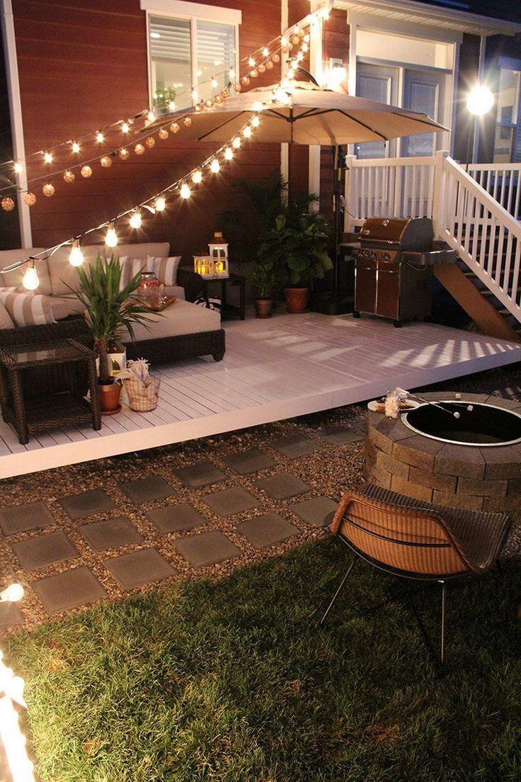 Best 25 backyard string lights ideas on pinterest for Cheap backyard lighting ideas