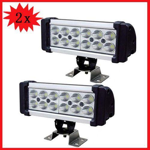 Wotefusi 2 PCS 8.5 36W 12V 24V LED Work Light Spot Lamp Off Road Foglight Jeep Truck 3W each EPISTAR LED,12 pcs of LEDs. Operating Volt:10-30Volt DC. Color temperature:6000K. Waterproof rate:IP67. Beam:spot beam. LENS:PC LENS. Housing color:Black. Light output about 2400 lumen.  #Wotefusi #AutomotivePartsAndAccessories