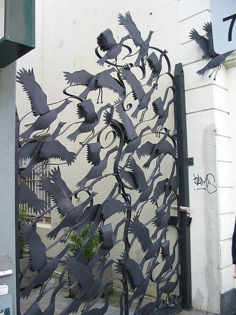 Bird Gate by Scootie, via Flickr    Only mine will be grackles.