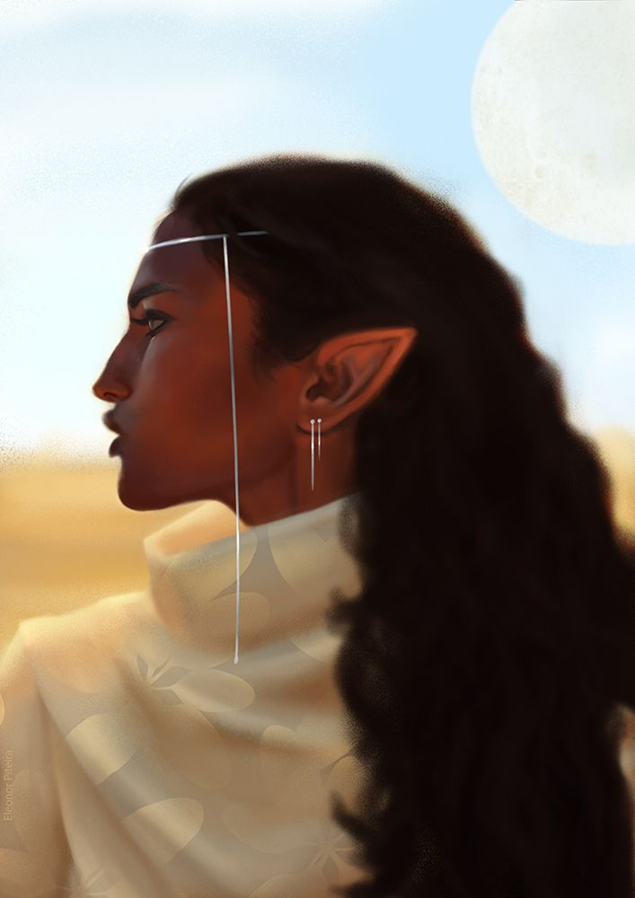 "eleonorpiteira: "" ""Aferah The Woman (x) "" A study that turned into a character that I'm playing with, for my personal project :3 """