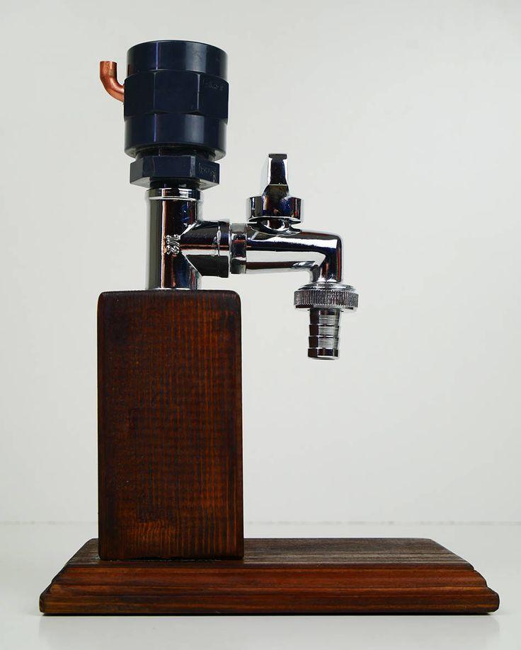 Dispensador de alcohol de madera hecho a mano / dispensador de
