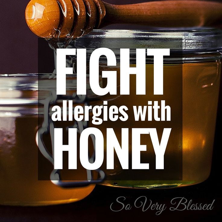 Fight allergies with Honey - Some seasonal allergy sufferers have found that 1 teaspoon of raw local honey everyday can reduce, and sometimes get rid of, your pollen allergy symptoms altogether. Because there is a little bit of pollen in the honey itself, your body starts building immunity against the irritants. | SoVeryBlessed.com #healthylivingtip