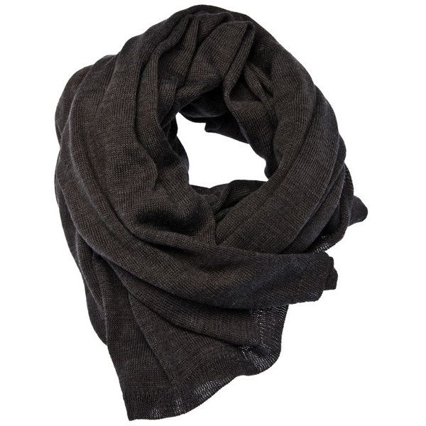 Cheap Monday Zuri Scarf Charcoal Mel ❤ liked on Polyvore featuring accessories, scarves, sciarpe, black, women, black scarves, cheap monday and black shawl