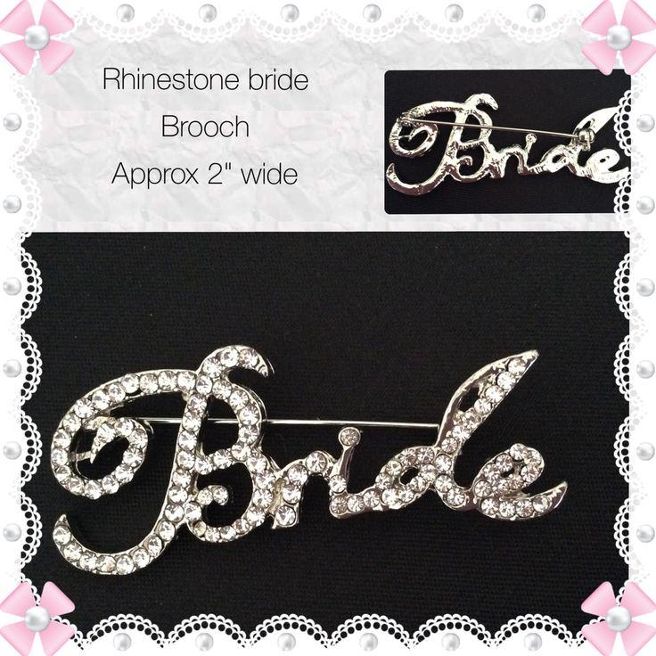 Silver Tone Rhinestone Brooch, AU$5.50