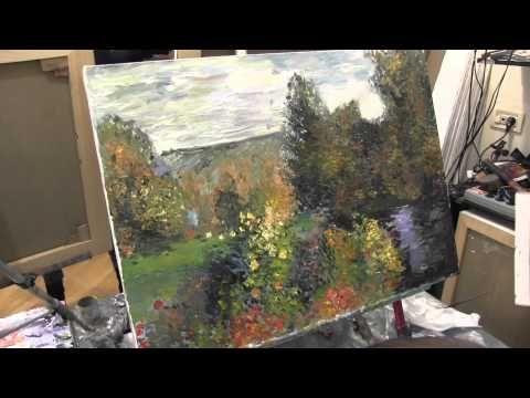 Художник Игорь Сахаров,импрессионизм, уроки рисования для начинающих - YouTube