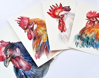 "Check out new work on my @Behance portfolio: ""New Year's cards 2017 Year of the Rooster"" http://be.net/gallery/58097099/New-Years-cards-2017-Year-of-the-Rooster"