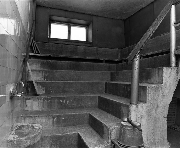Eurantien saunan miesten puolen lauteet. Kävin tässä saunassa 1969-71.