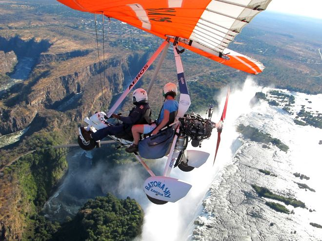 I WANT TO DO THIS. microlight flight over Victoria Falls