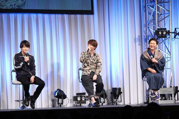 Guests on stage were Kaito Ishikawa (as Rinne Rokudo), Ryohei Kimura (as Tsubasa Jumonji) and Kappei Yamaguchi (as Sabato Rokudo)!