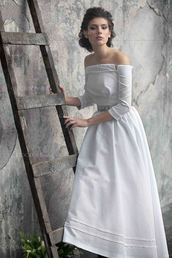 Country Linen Wedding Gown  Dream Dress Rustic от CoconBridal