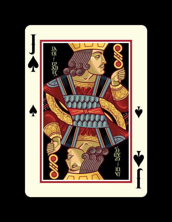 Icons Playing Cards by Lotrek Imperial Edition - Jack of Spades | more here: http://playingcardcollector.net/2015/02/05/icons-playing-cards-the-imperial-edition-by-lotrek/
