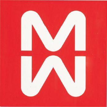 Bob Noorda, Marchio / Logo MM Metropolitana Milanese, Tempera su carta / Tempera on paper, 1964, courtesy Ornella Vitali Noorda