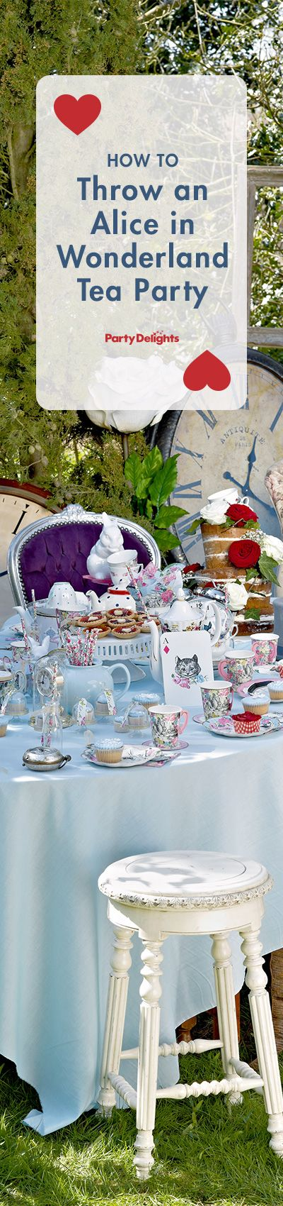 Find out how to throw a gorgeous Alice in Wonderland or Mad Hatter's tea party - complete with decorating ideas and food ideas. Perfect for a baby shower, wedding shower or birthday theme. Visit partydelights.co.uk to pick up everything we used to create this party.