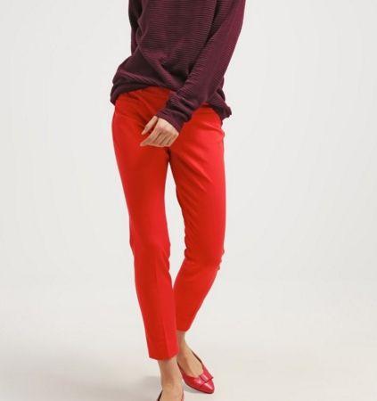 Banana Republic SLOAN SOLIDS Spodnie rurki czerwone damskie red glow