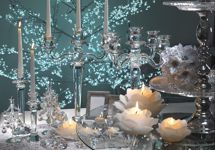 Cristalli candele e addobbi...
