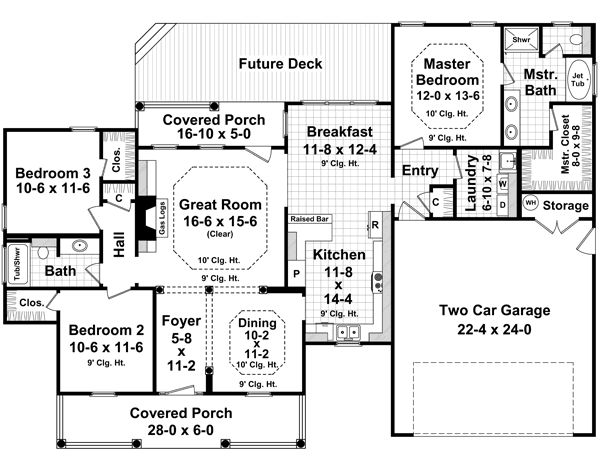 Country style house plans 1700 square foot home 1 for 1700 square foot house plans