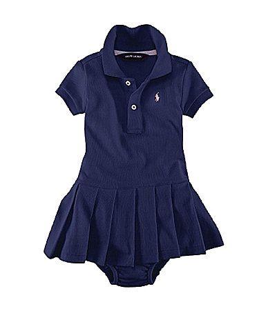 Ralph Lauren Childrenswear Infant Stretch Mesh Dress