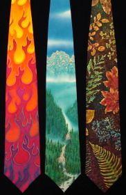 hand painted silk ties $75 original works of art by Warren Hartz