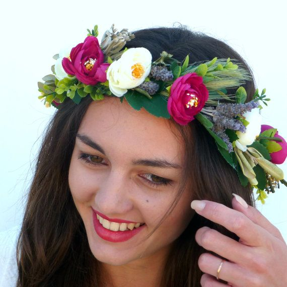 Liliana Flower crown by BlackSwanFeather on Etsy