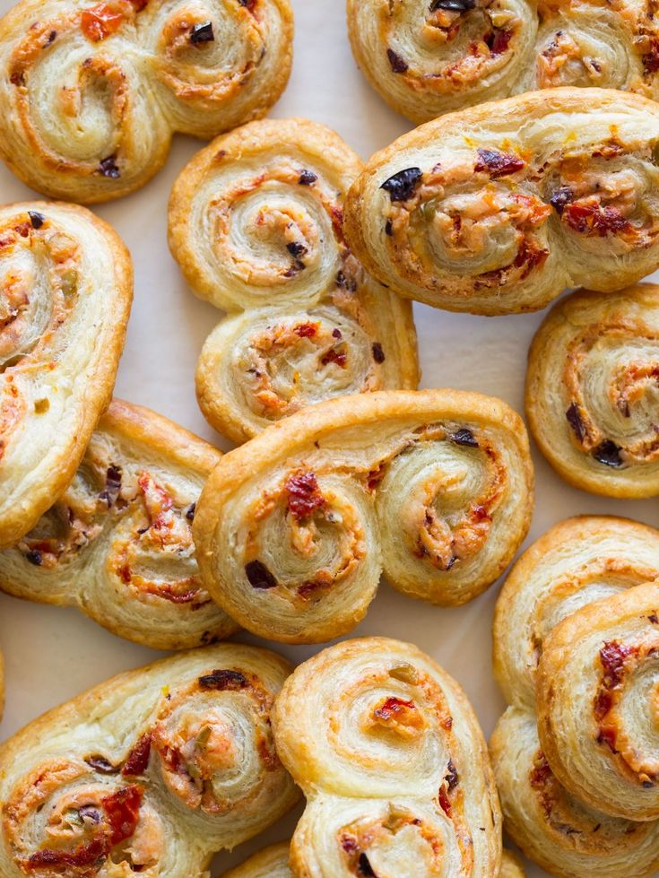 Sun Dried Tomato and Goat Cheese Palmiers