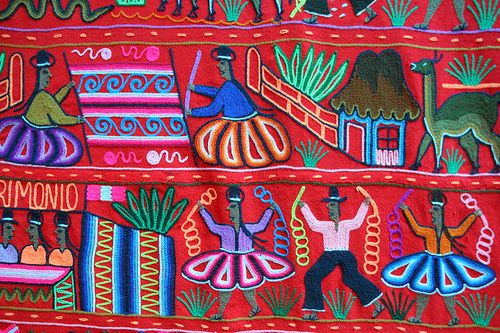 Peruvian embroidery, plan on bringing lots of this back