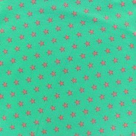 Tissu jersey Poppy Stars corail/menthe à l'eau x 10cm