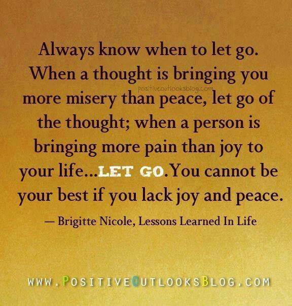 when a person brings more pain than joy..it's okay to let go