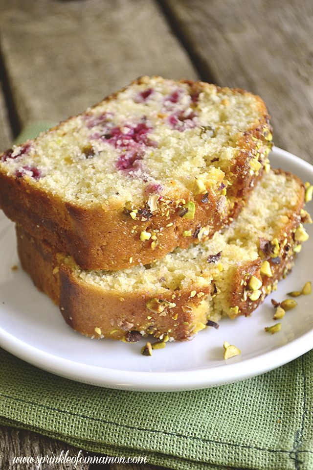 Raspberry Pistachio Loa - This bread is packed with flavor!