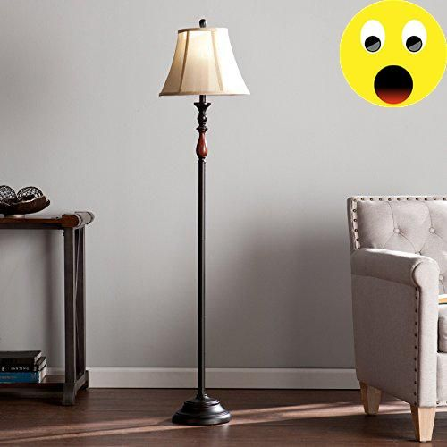 #nursery #Illuminate your home décor with this elegant floor lamp. #Soft curves flow across the warm black silhouette, which coppery bronze brushes to life. Radia...