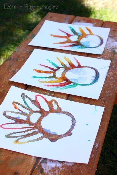 Process based turkey art for kids - absorption art