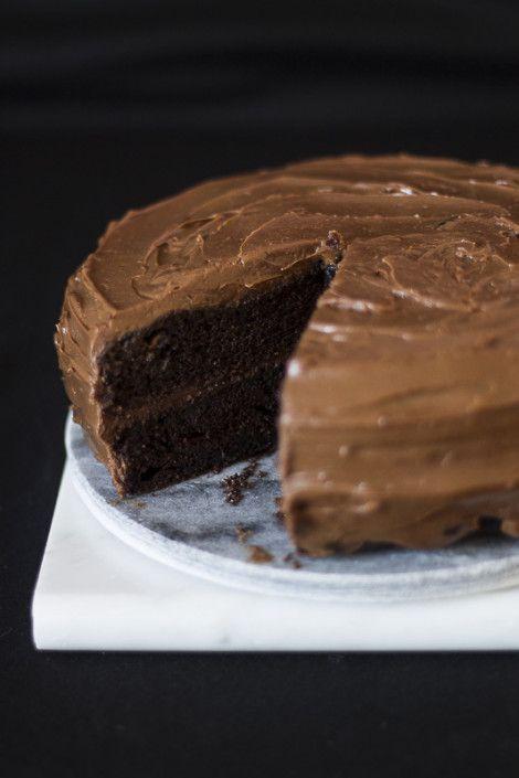 Torta glassata al cioccolato e caffè - Layer chocolate and coffee cake