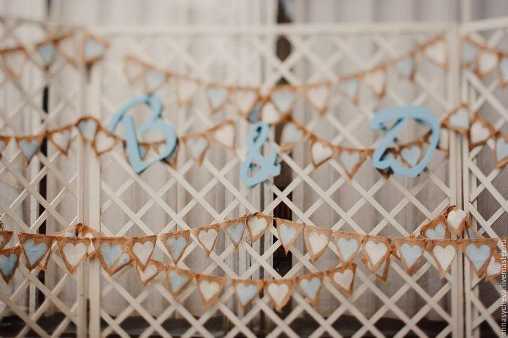 Купить Гирлянда из мешковины - комбинированный, гирлянда, гирлянда для фотосессии, гирлянда из флажков, гирлянда на свадьбу