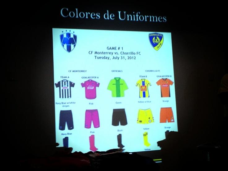 En la Junta Técnica entre CONCACAF, Cuerpo Arbitral, Chorrillo de Panamá y #Rayados se mostró como vestirán en el partido de hoy.