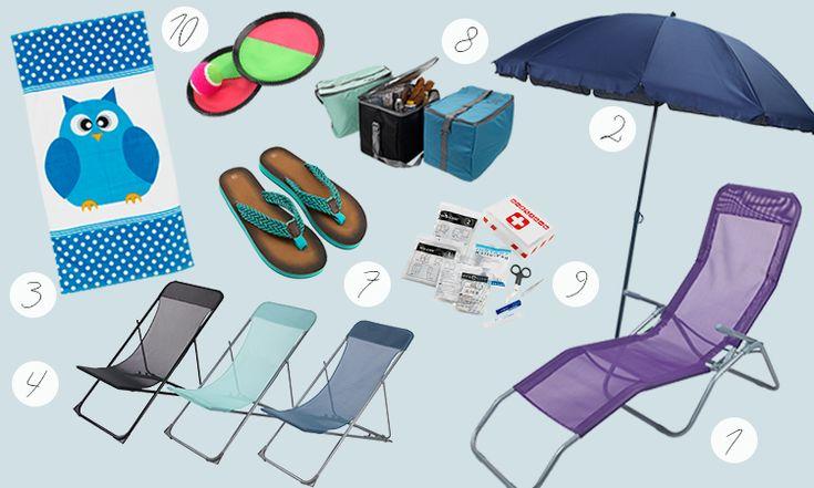 Kitul de mers la plaja. Vezi pe blogul JYSK topul celor 10 produse esentiale pentru distractia la plaja!