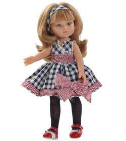 Poupée Carla robe carreaux www.poupee-paolareina.com - La boutique des poupées Paola Reina #dolls #poupées