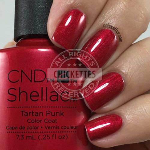 nails.quenalbertini: CND Shellac Tartan Punk | Chickettes