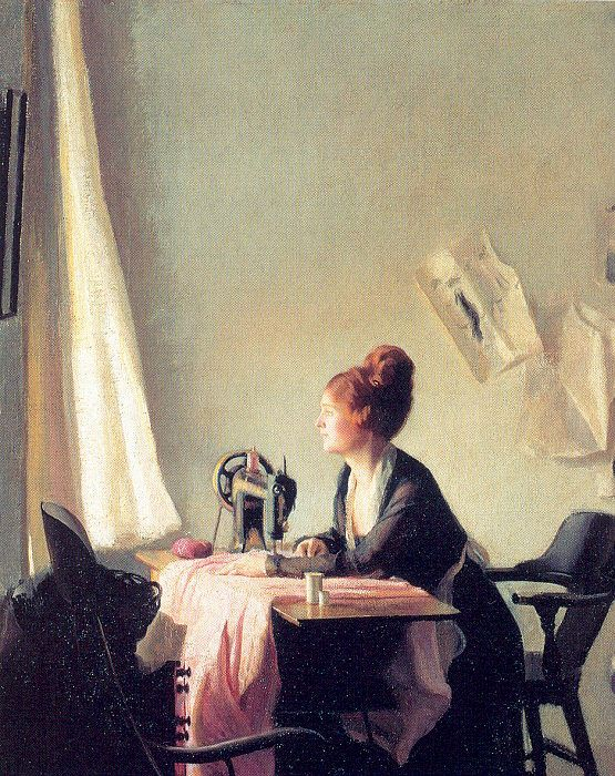 The Open Window, 1922, by Elizabeth Vaughan Okie Paxton (American, 1877-1971). Yes, you really should have your biggest, most sunlit window where you spend your time.
