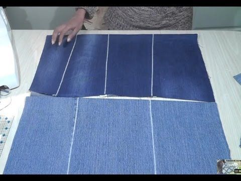 How to make flat fabric from old jeans / Recycle Reuse