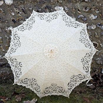 lacy edwardian wedding parasol  pretty, will be back on notonthehighstreet again soon