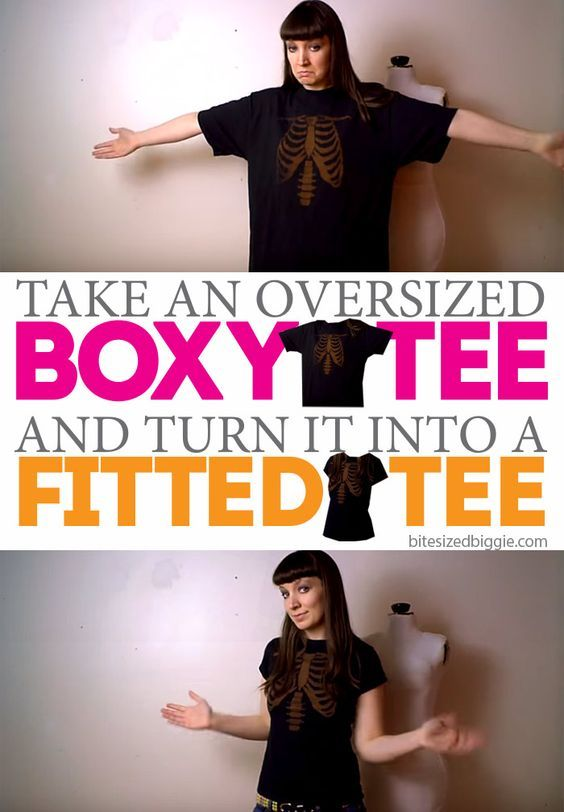 How to Remake a Boxy T-Shirt into a Fitted Tee: T-shirt Refashion                                                                                                                                                                                 More