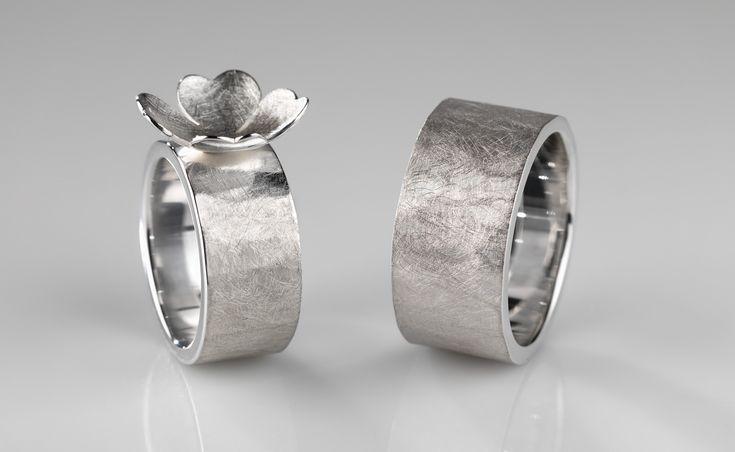 wedding rings in silver © www.mariebenedicte.com