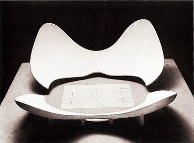 [Luigi Moretti][1960]Stadium Proposal for the Exhibition of the IRMOU and parametric architecture, 1960: