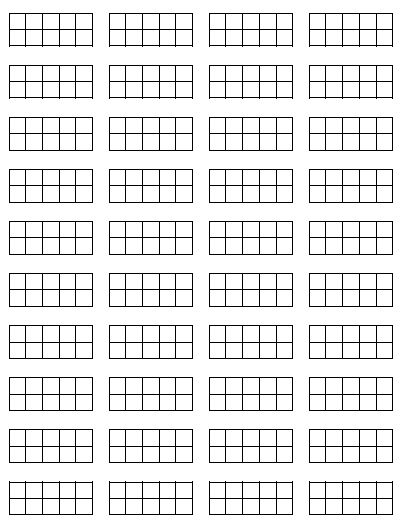 Print these blank mini-10 frames, cut them apart, and keep them handy for young students to use when solving problem in math. They glue the ones they need right onto their page so they can show their thinking to solve a problem.