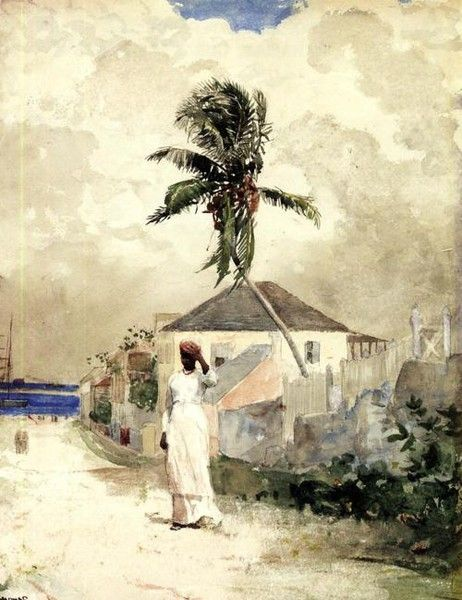 By Winslow Homer.: The Roads, Watercolor, Bahama 1885, Art Paintings, Artworks, American Artists, Islands Living, The Bahama, Winslow Homer
