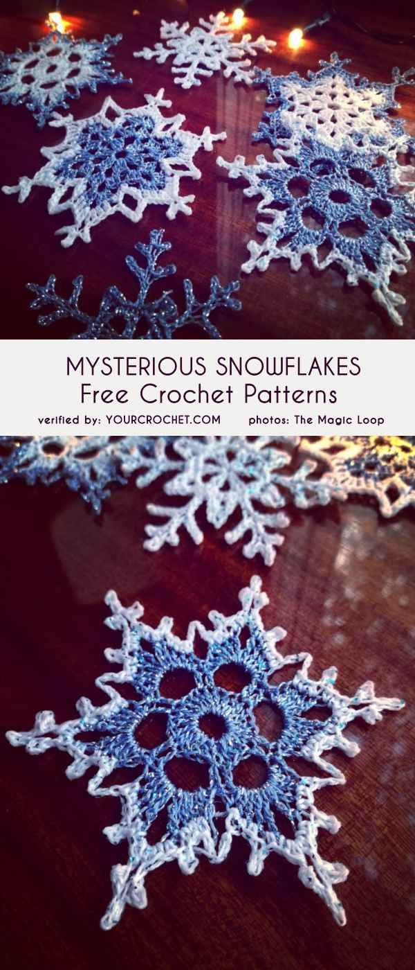 (Mysterious) Snowflakes Free Crochet Patterns