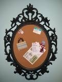 cork board+old mirror frame= going in my office!